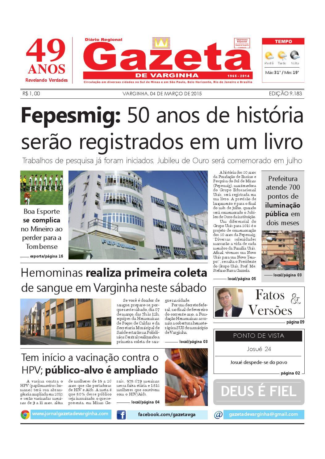 Gazeta de Varginha - 04 03 2015 by Gazeta de Varginha - issuu 30b5e4be33
