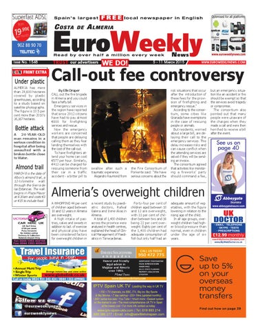 Euro Weekly News - Costa de Almeria 5 - 11 March 2015 Issue 1548 by