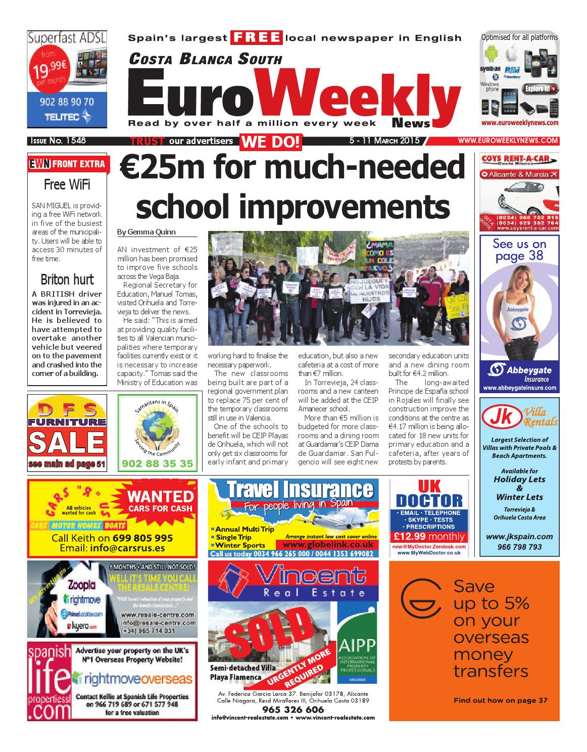 Euro weekly news costa blanca south 5 11 march 2015 issue 1548 euro weekly news costa blanca south 5 11 march 2015 issue 1548 by euro weekly news media sa issuu fandeluxe Choice Image