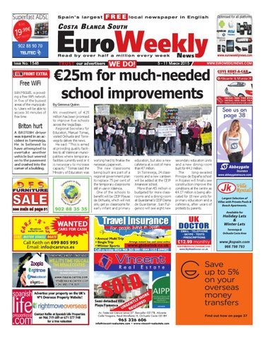 Euro Weekly News - Costa Blanca South 5 - 11 March 2015