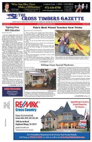 The Cross Timbers Gazette October 2017 - Cross Timbers
