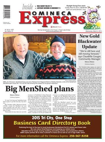 Vanderhoof Omineca Express, March 04, 2015 by Black Press Media