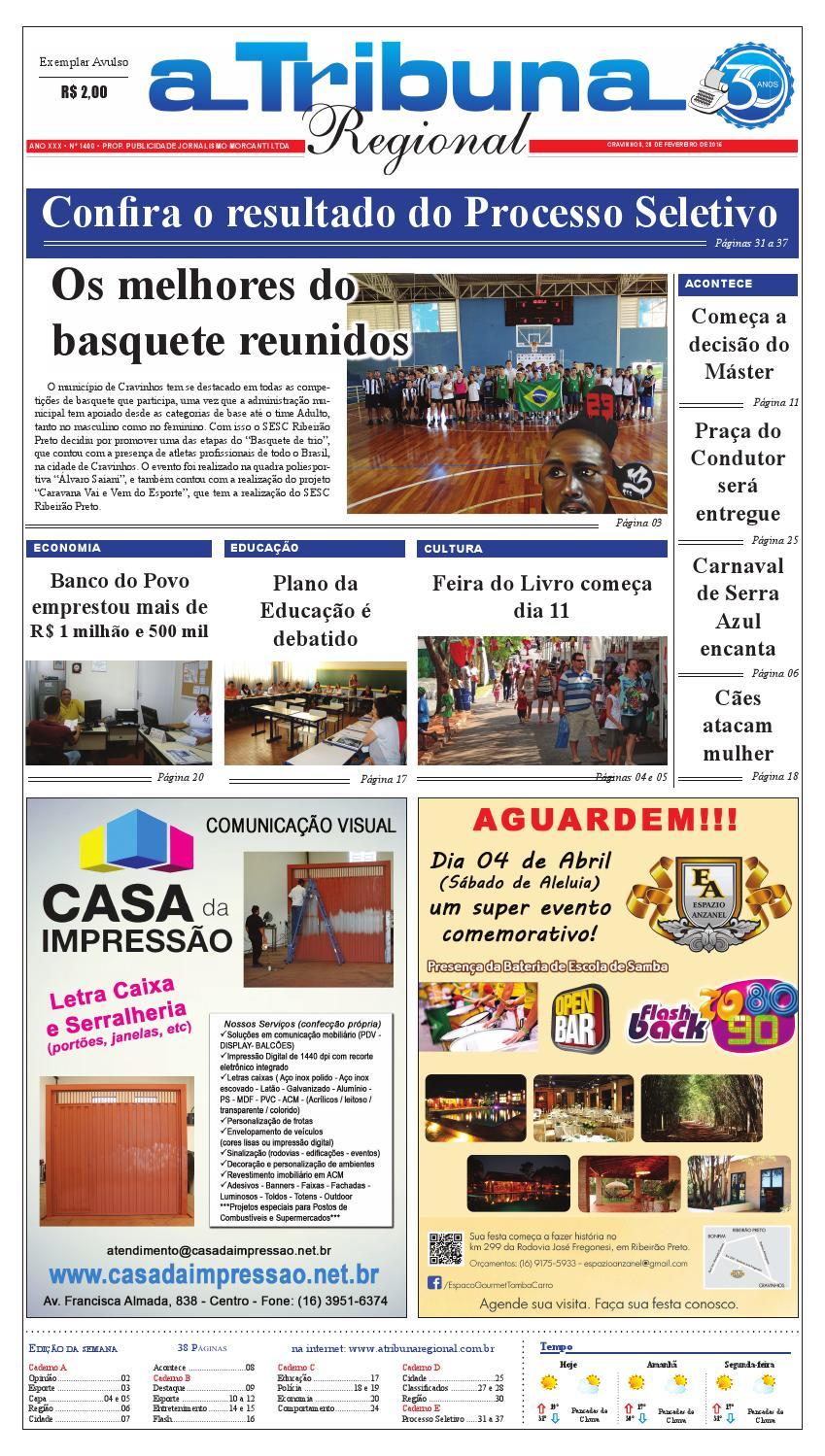 46836951d4 jornal A Tribuna Regional de Cravinhos SP by Leandro Cavalcanti - issuu