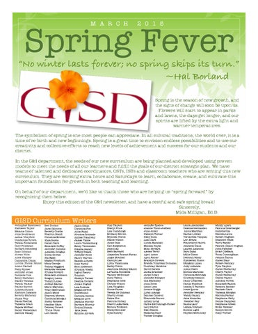 c i march newsletter by garland isd issuu
