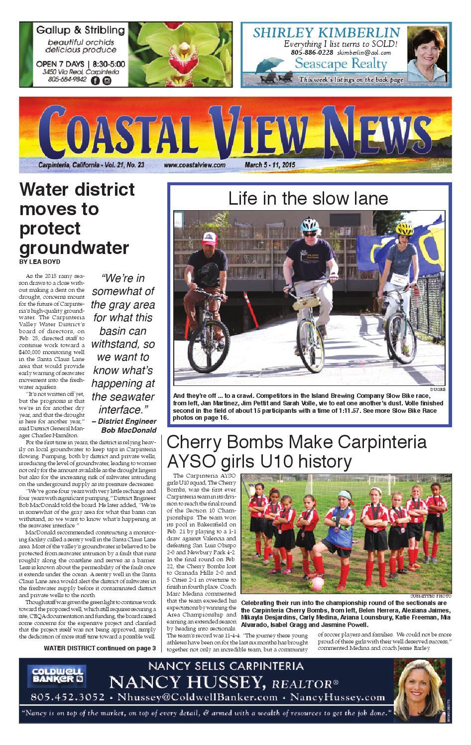 Cvn 030515 by Coastal View News - issuu
