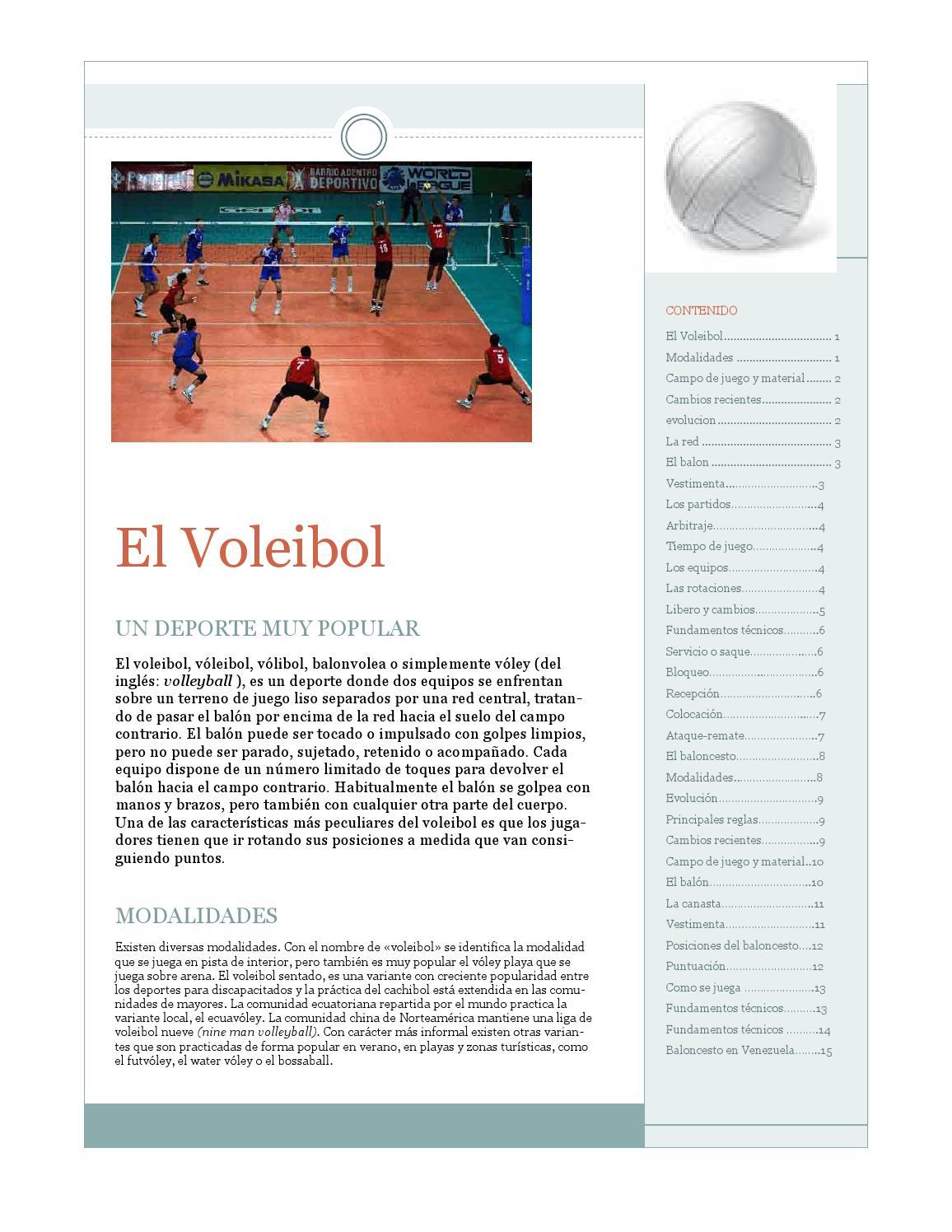 material del balon de voleibol