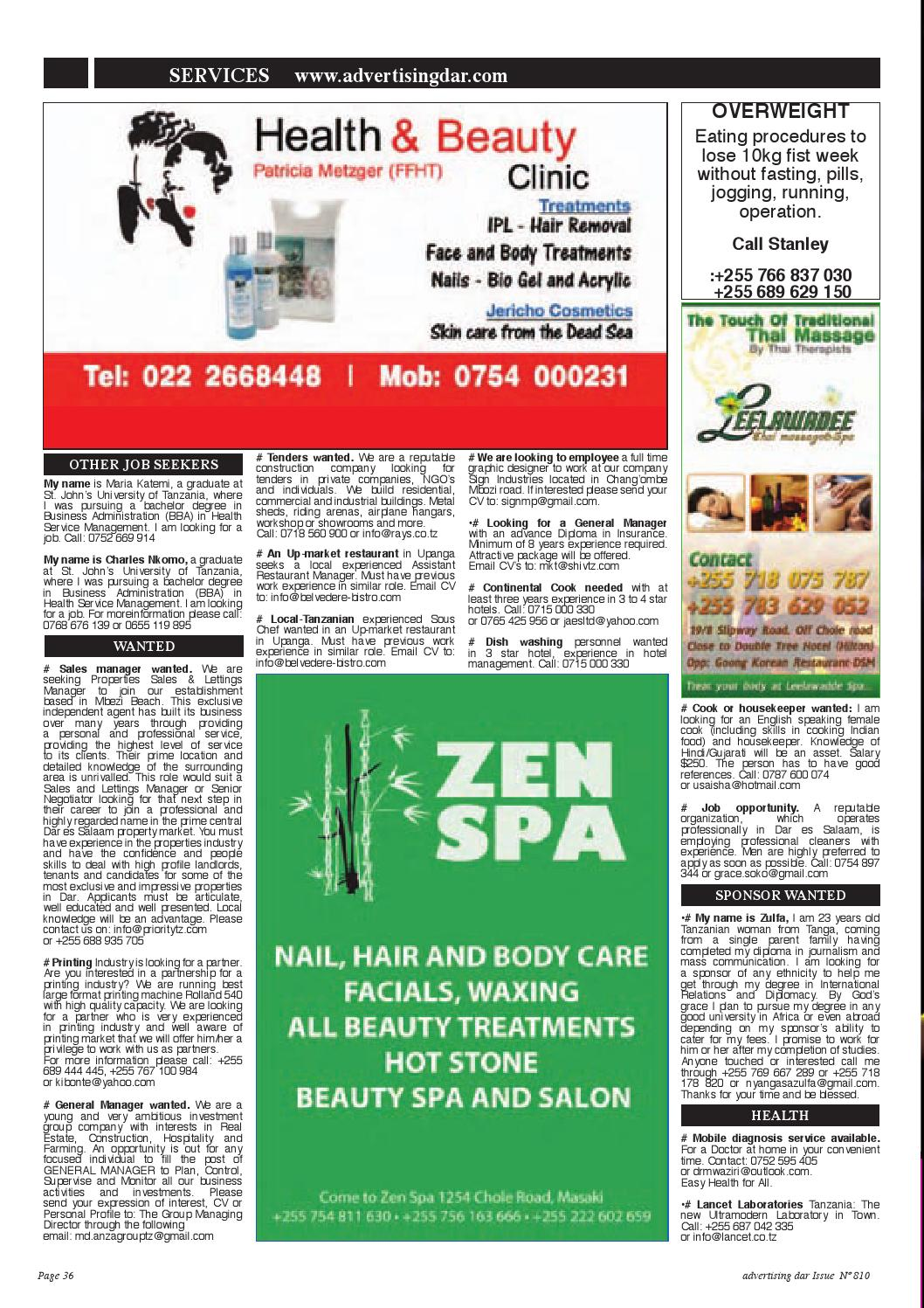 Advertising Dar Issue Nº 810 - 6th March 2015 by Advertising