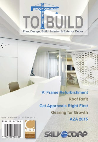 To Build - Issue 14 - March - June 2015