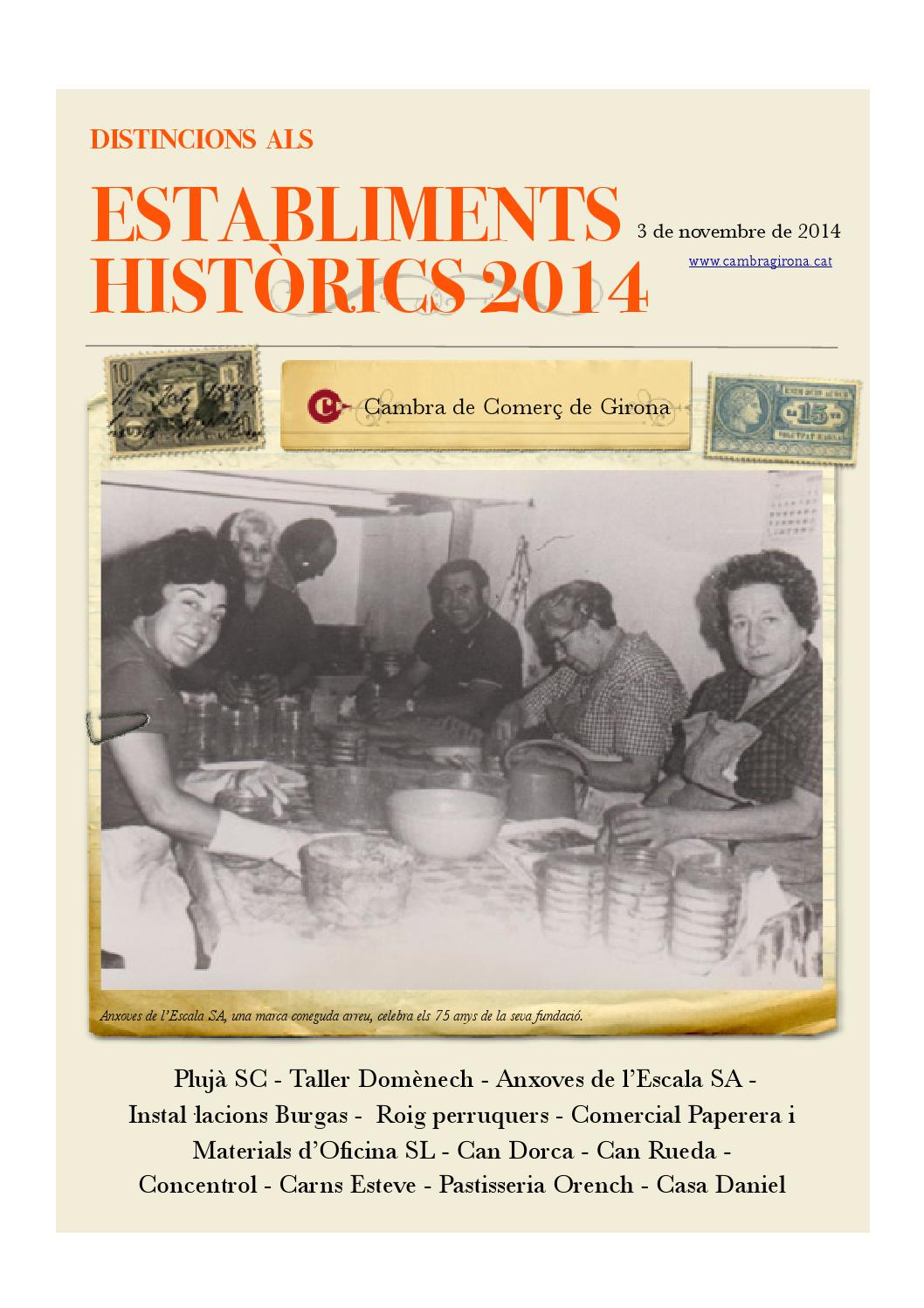 Establiments hist rics 2014 by gerard bagu issuu for Material oficina girona