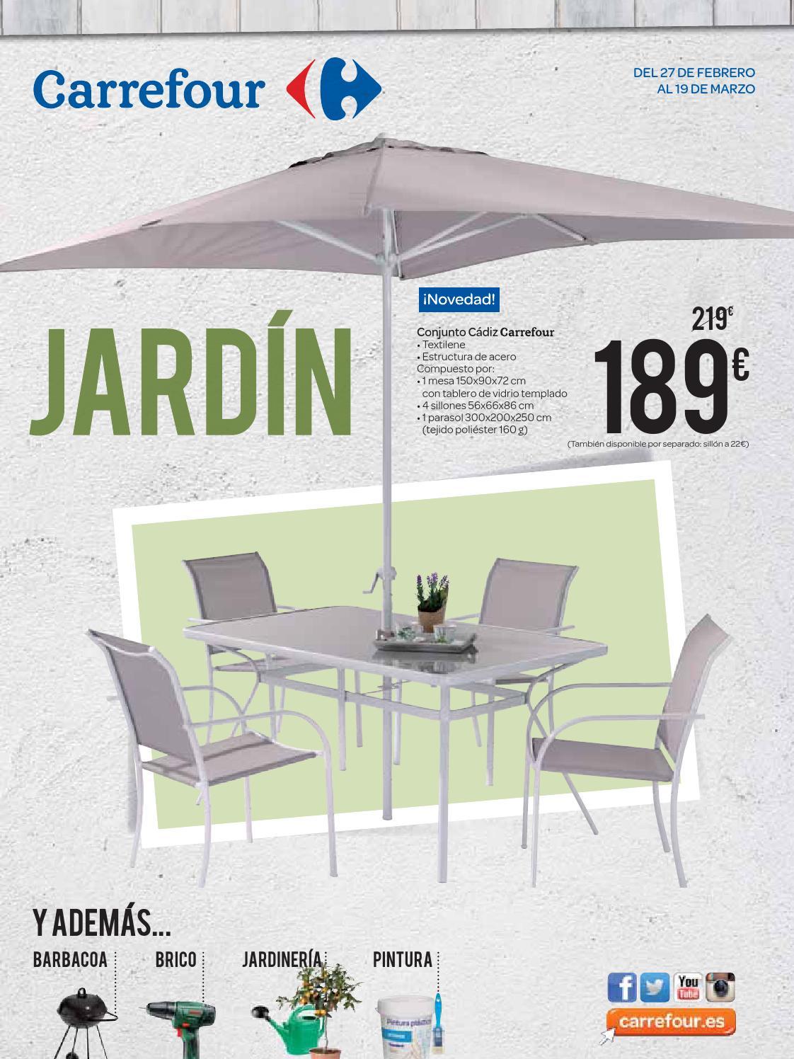 Volandera jardin marzo 270215 by losdescuentos issuu - Carrefour terraza y jardin ...