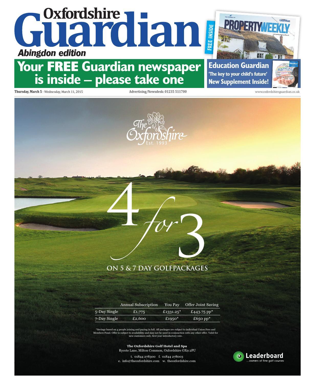 foto de 05 march 2015 oxfordshire guardian abingdon by Taylor Newspapers ...