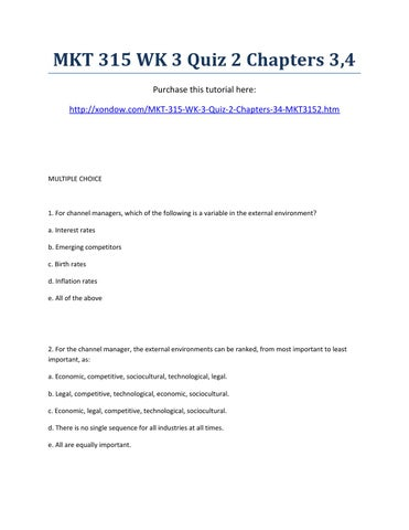 week 4 mkt 100 quiz Acc 556 week 6 final presentation acc 556 week 6 short answer quiz  acc  bscom 100 week 2 nonverbal interpersonal and textual  communication  week 4 direct marketing bscom 384 week 5 internet- based marketing.