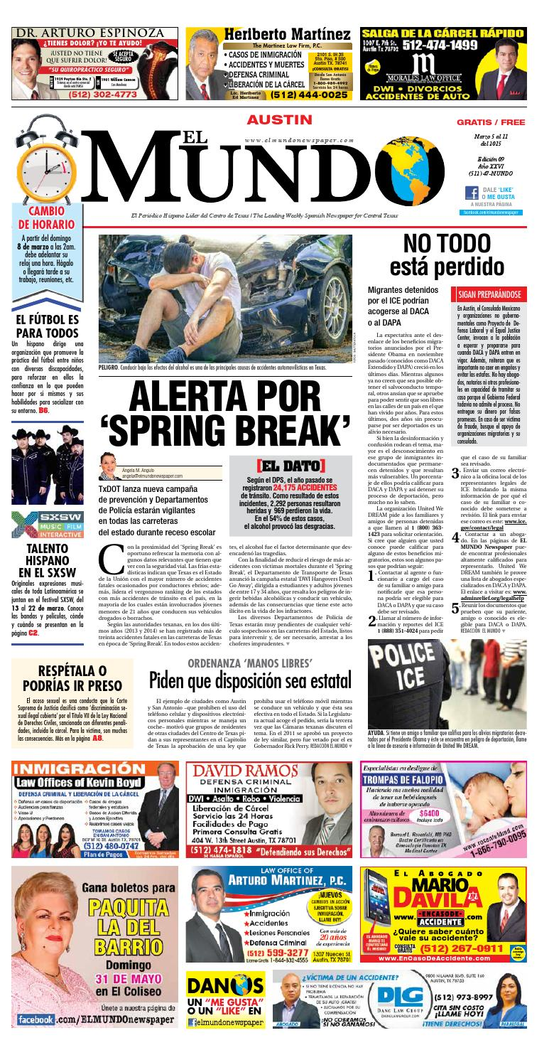 El Mundo Newspaper Austin 09 by El Mundo Newspaper - issuu