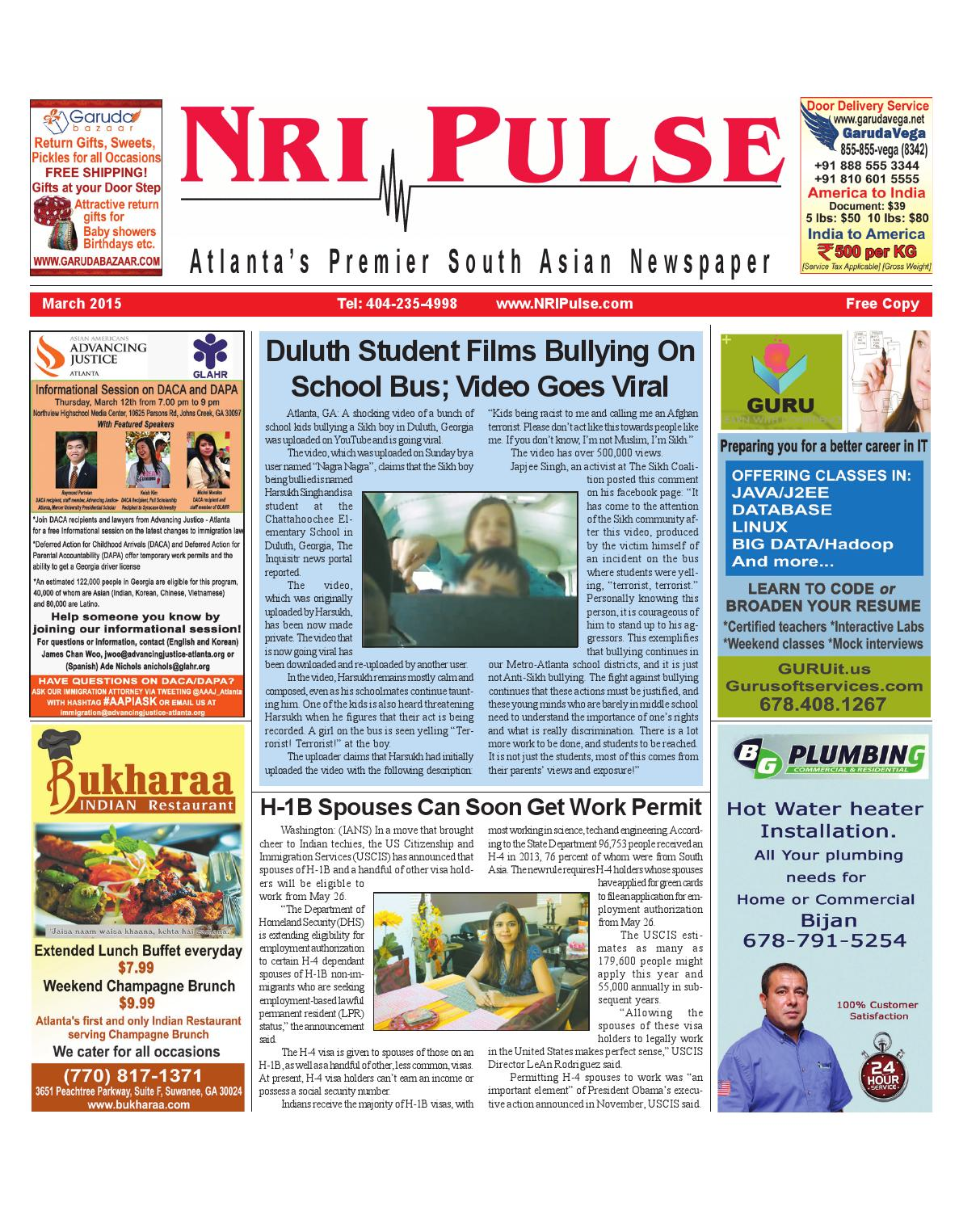 NRI Pulse March 2015 print issue by NRI Pulse - issuu