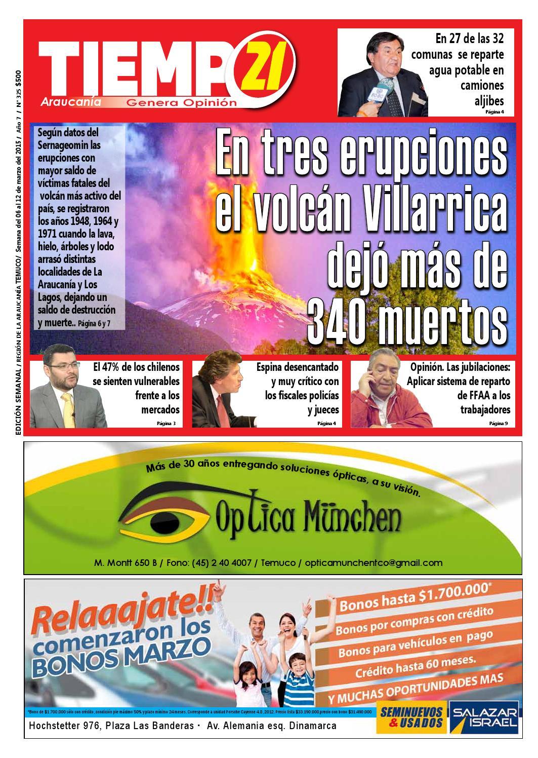 Edici N 325 En Tres Erupciones El Volc N Villarica Dejo Mas De  # Muebles Jouannet Ltda