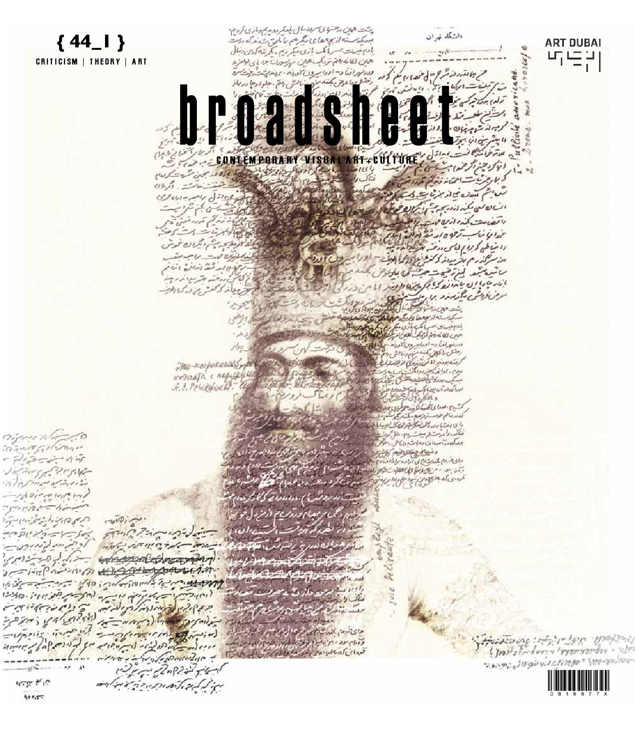 Contemporary visual arts culture broadsheet 441 by ace open issuu fandeluxe Gallery