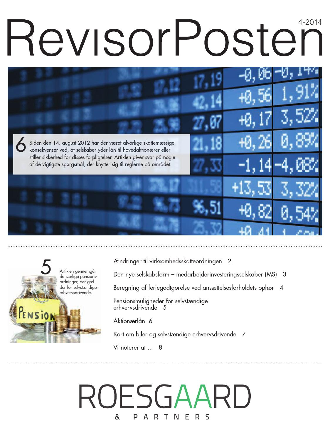 Revisorposten, 4 kvt 2014 by Roesgaard & Partners - Issuu