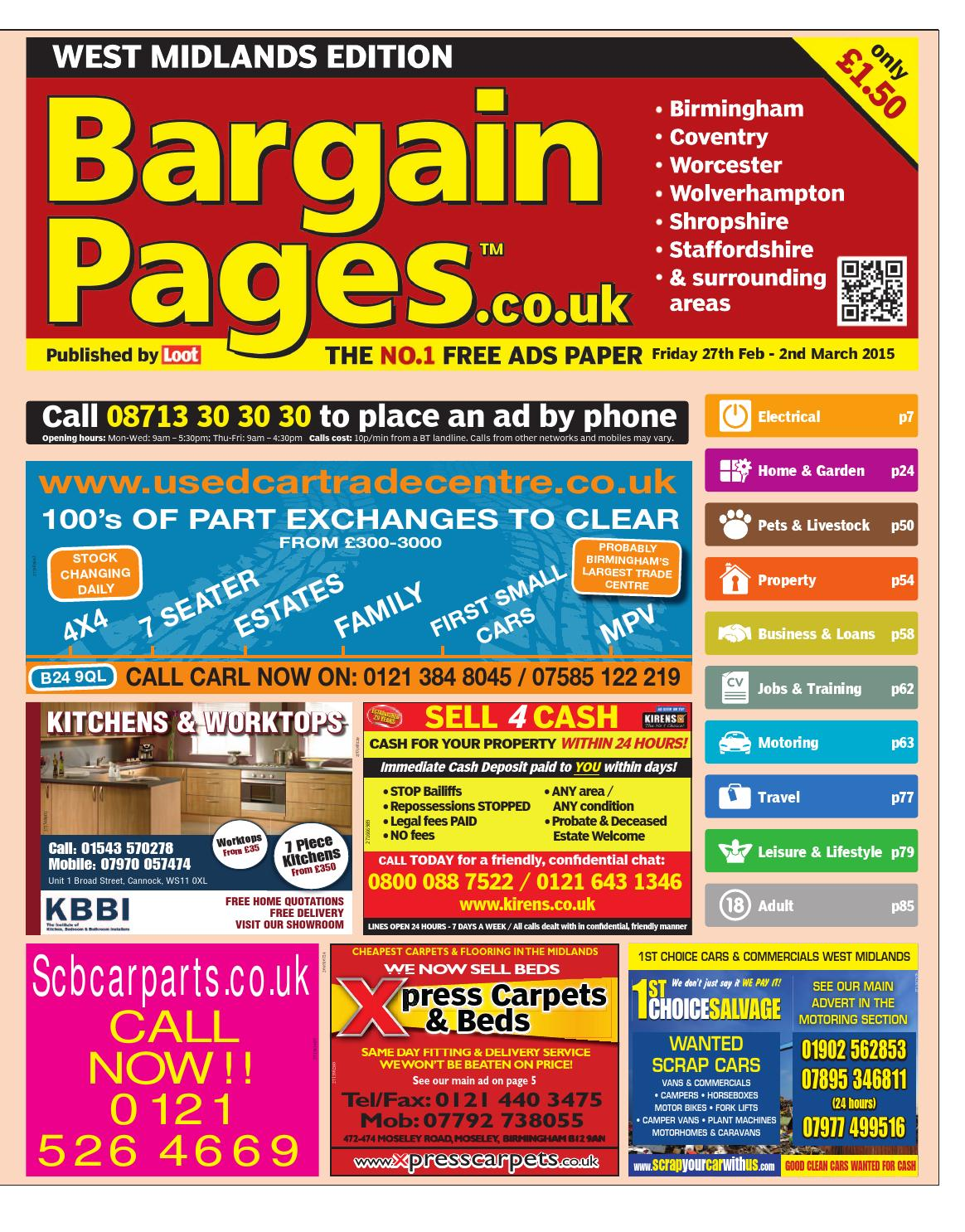 Bargain Pages West Midlands, February 27th 2015 by Loot issuu