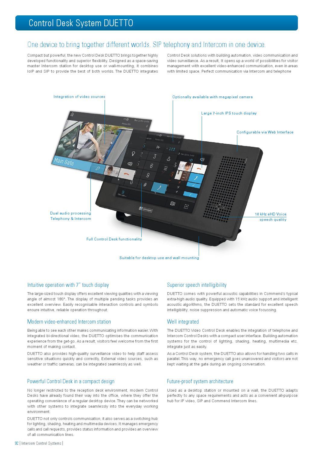 Commend Product Catalogue 2015 English High Quality Intercom By International Gmbh Issuu