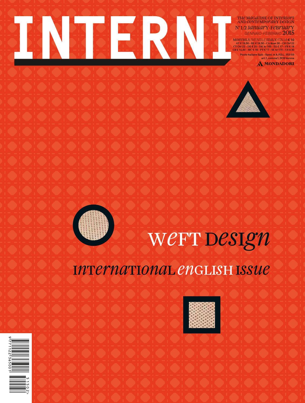 interni 648 - january - february 2015 by interni magazine - issuu - Bel Divano In Pelle Posteriore Con Sedili Imbottiti Armi