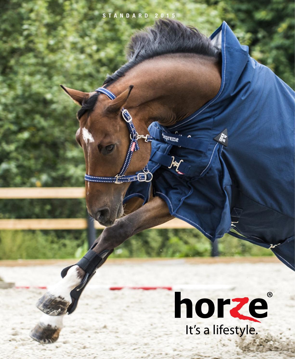 Horze bZeen Reflective Wrap Riding Sheet Exercise in Low Light Orange