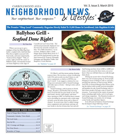 Carrollwood - Vol  3, Issue 3, March 2015 by Tampa Bay News