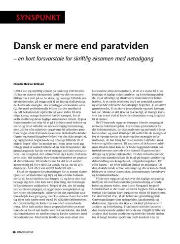hjælp til dansk skriftlig eksamen