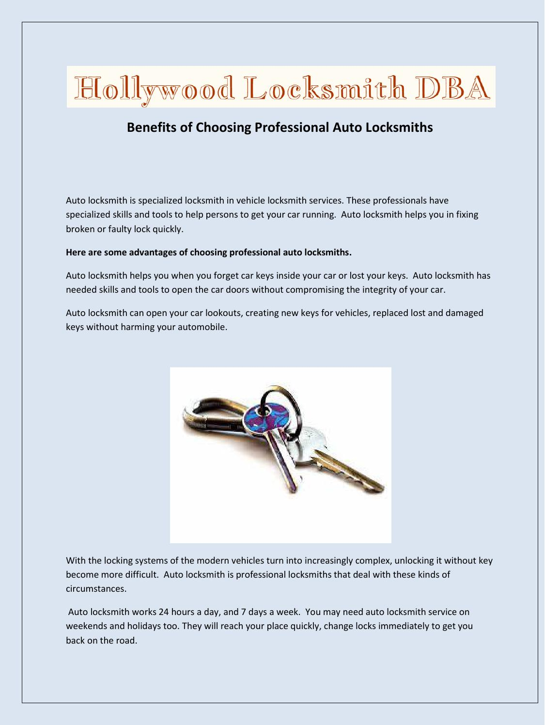 Benefits of Choosing Professional Auto Locksmiths by