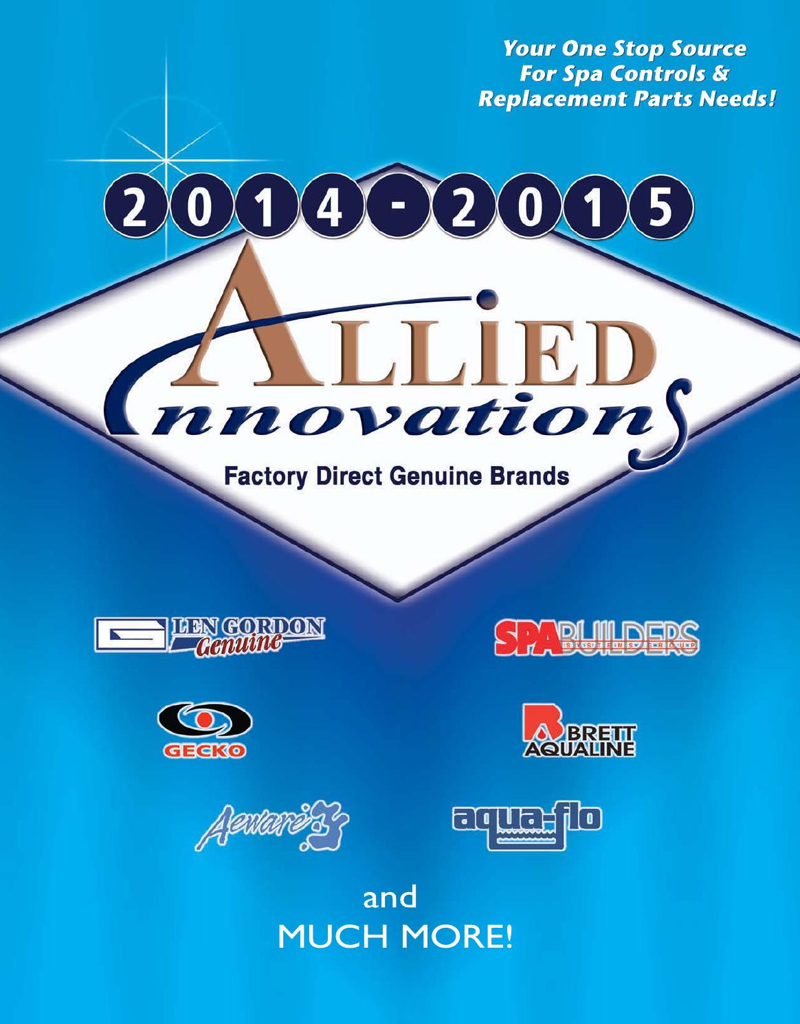 2014 Allied Innovations Spa Parts Catalog By Issuu Emerson Jacuzzi Wiring Schematics