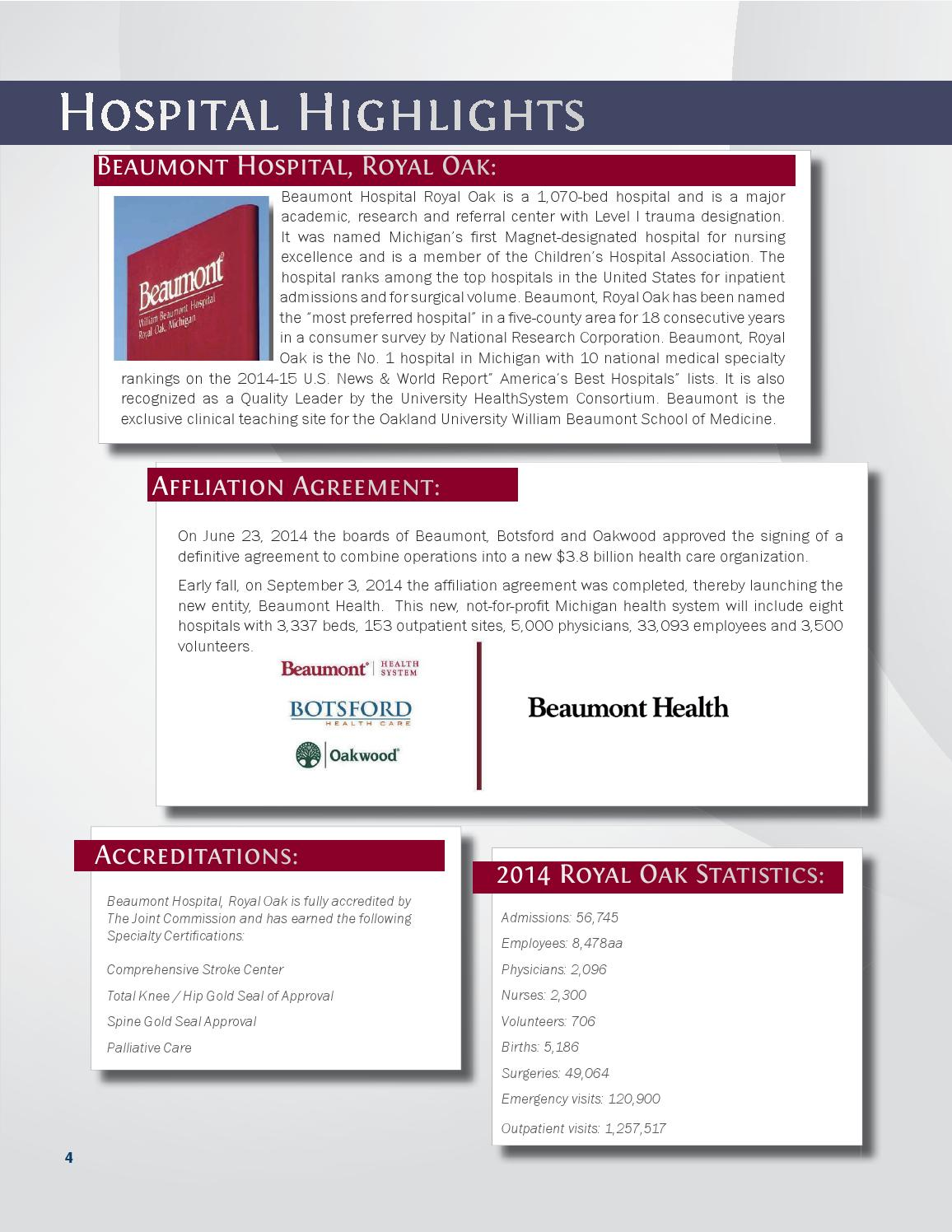 2014 Nursing Annual Report | Beaumont Hospital, Royal Oak by