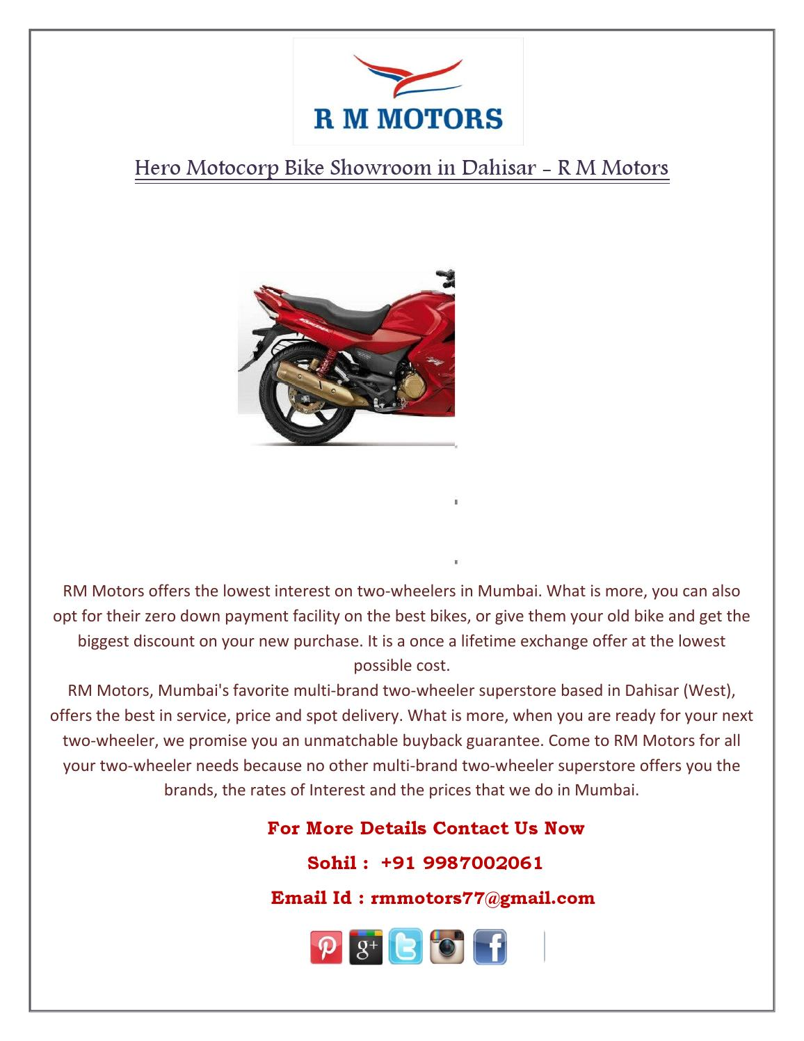 Hero Motocorp Bike Showroom in Dahisar - R M Motors by RM
