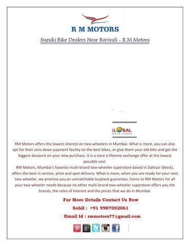 Suzuki Bike Dealers near Borivali - R M Motors by RM Motors - issuu
