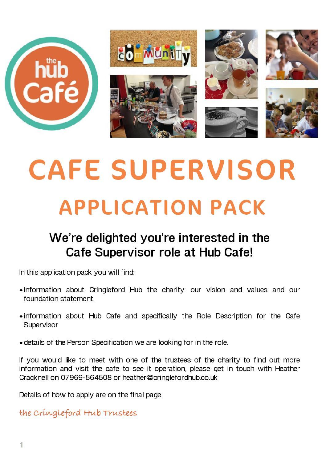 Hub cafe supervisor application pack by Cringleford Hub - issuu