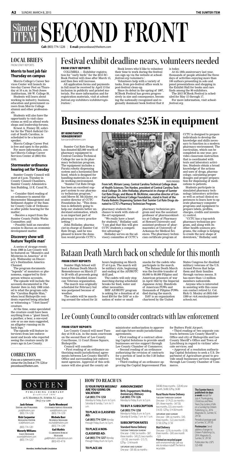 March 8, 2015 by The Sumter Item - issuu