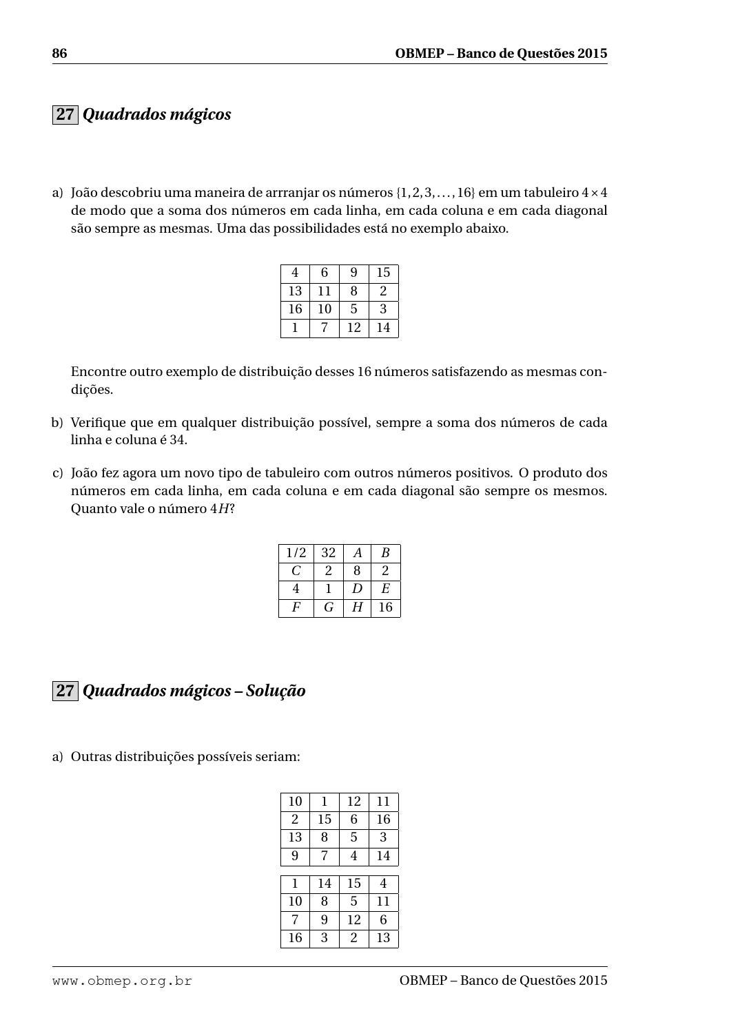 fef1910f2 Banco de questões da OBMEP 2015 by Carlos Silva - issuu