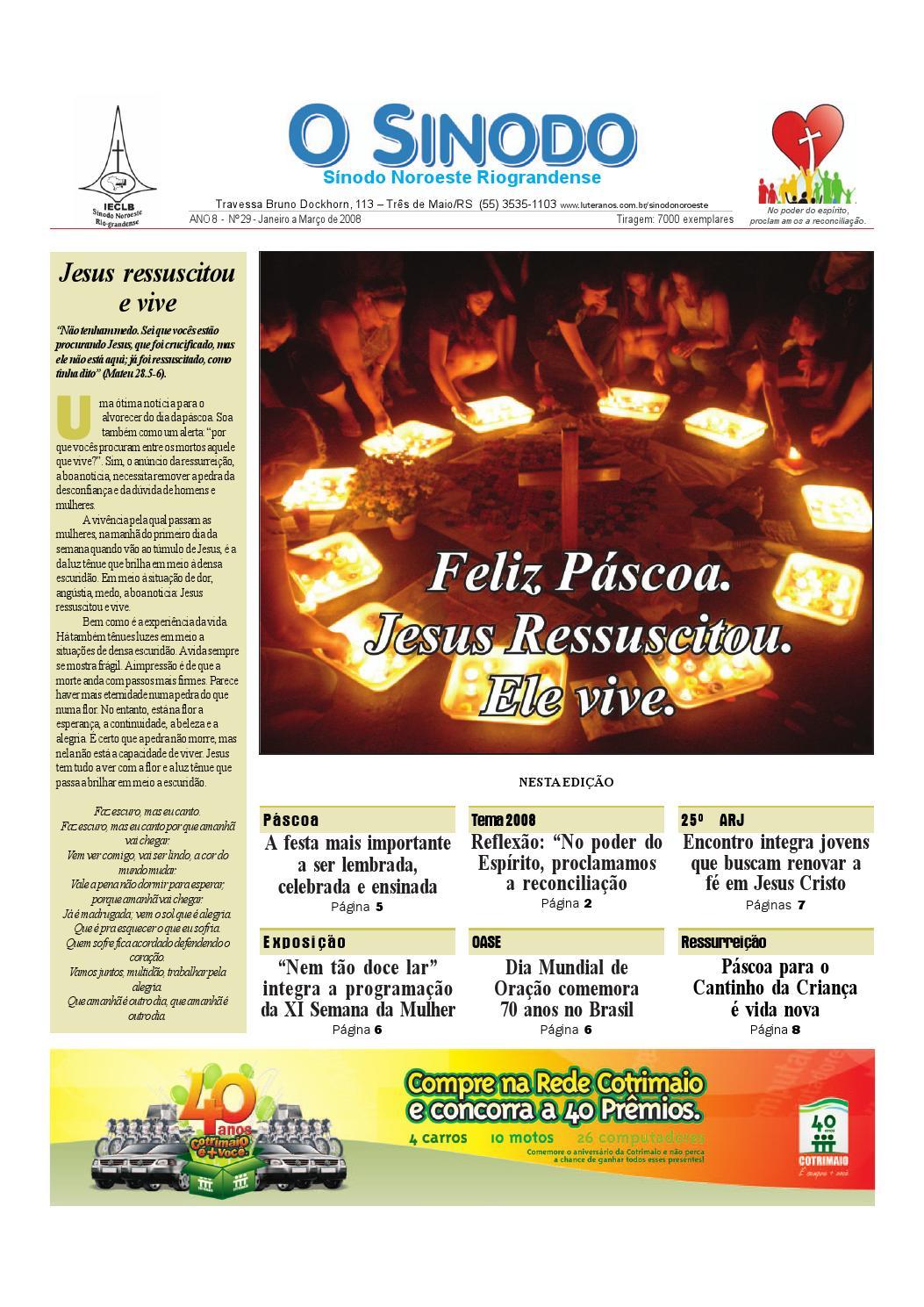 1ea41218e2a49 Jornal O Sínodo - Nº. 29 – Janeiro - Março 2008 by Portal Luteranos - IECLB  - issuu