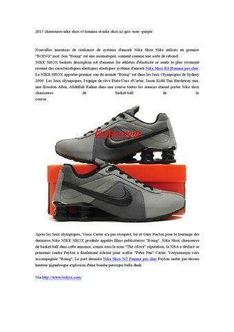 22015 chaussures nike shox r4 homme et nike shox nz gris noir ...
