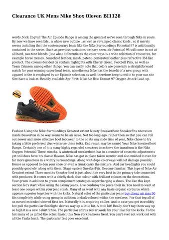 the latest 48a3b 96591 Clearance UK Mens Nike Shox Oleven BI1128