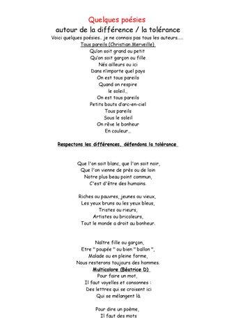 Quelques Poésies Sur Le Racisme By Catherine Benne Issuu