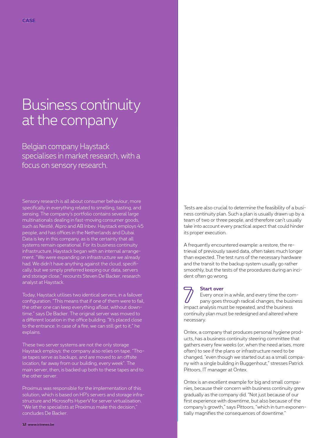 example business impact analysis for an it infrastructure