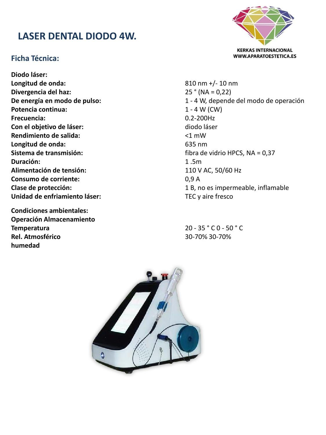 Laser dental 4w ficha tecnica by kercas internacional issuu for Tecnica modo 10