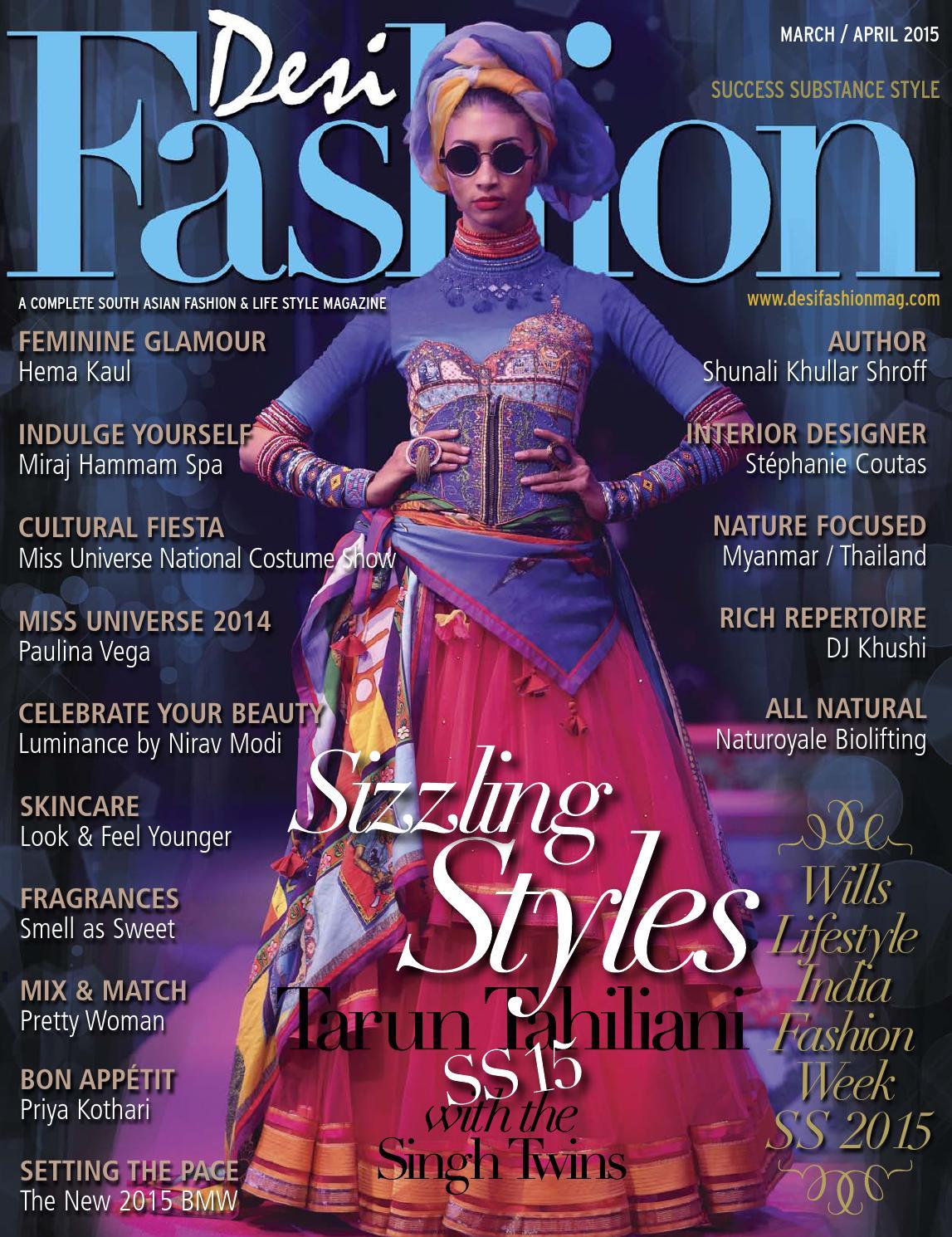 Desi Fashion Magazine March/April 2015 www desifashionmag com by
