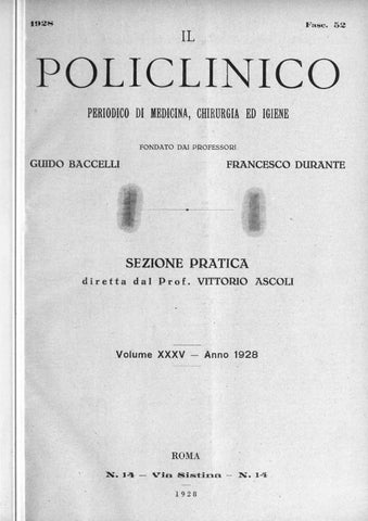052a9ad6e0 Il policlinico sezione pratica anno 1928 parte 1 ocr parte1 by ...