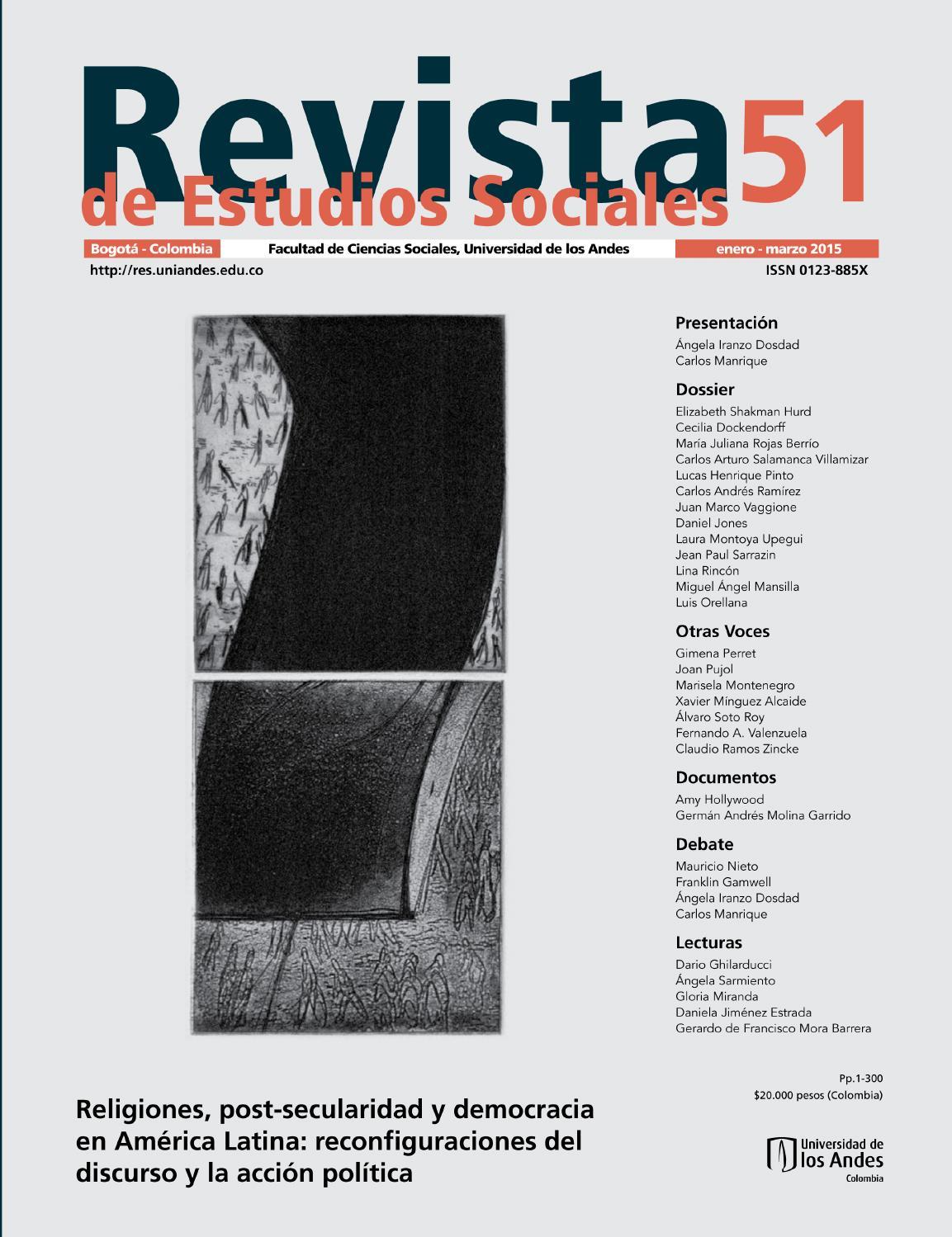 Revista Estudios Sociales No 51 By Universidad De Los Andes Issuu