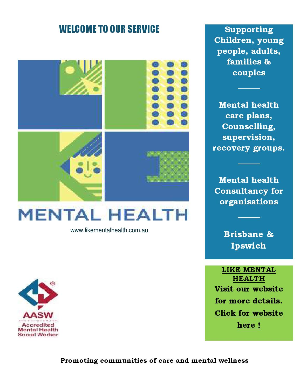 Welcome to our service by Like Mental Health - Issuu