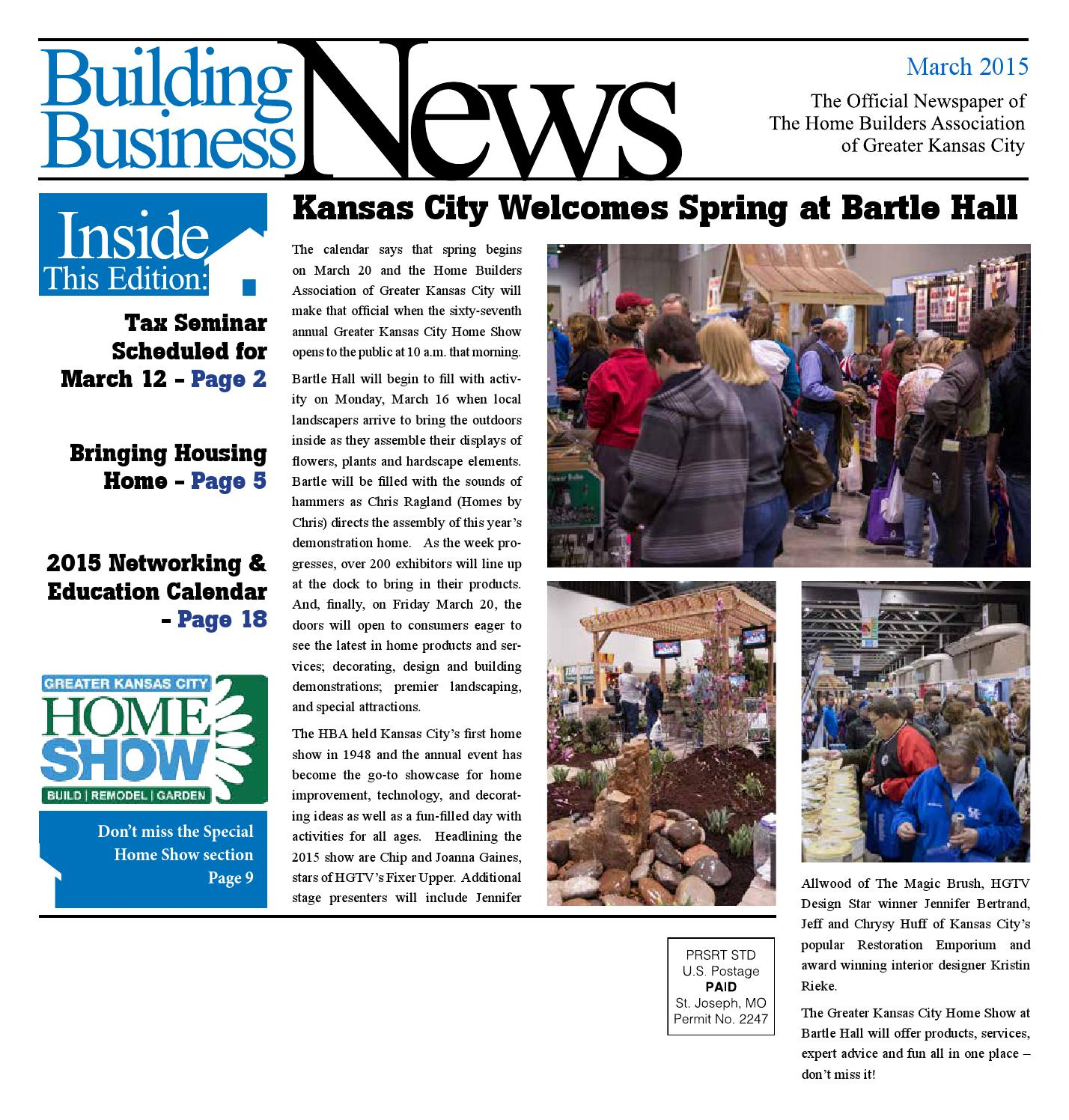 Celebration fl bank 173 owned home with garage apartment nectar real - March 2015 Bbn By Home Builders Association Of Greater Kansas City Issuu
