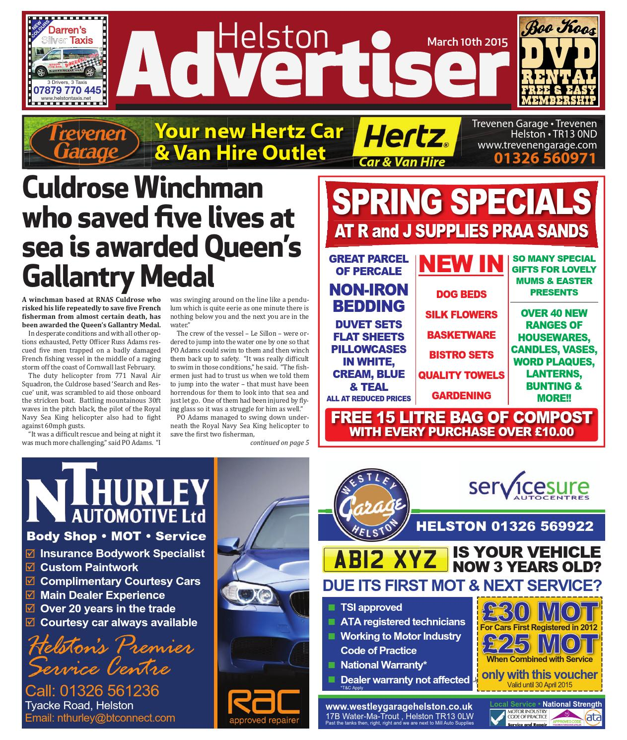 Helston advertiser 10th march 2015 by helston advertiser issuu fandeluxe Gallery