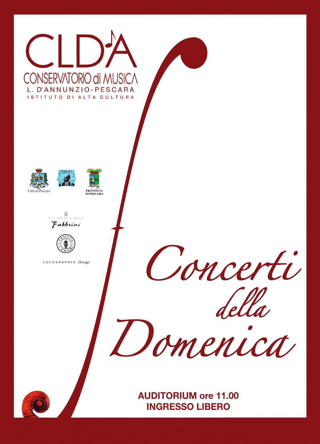 Concerti della domenica by massimo magri issuu for Magri arreda pescara