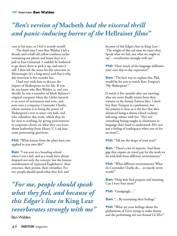 Shakespeare Magazine 06 by Shakespeare Magazine - issuu