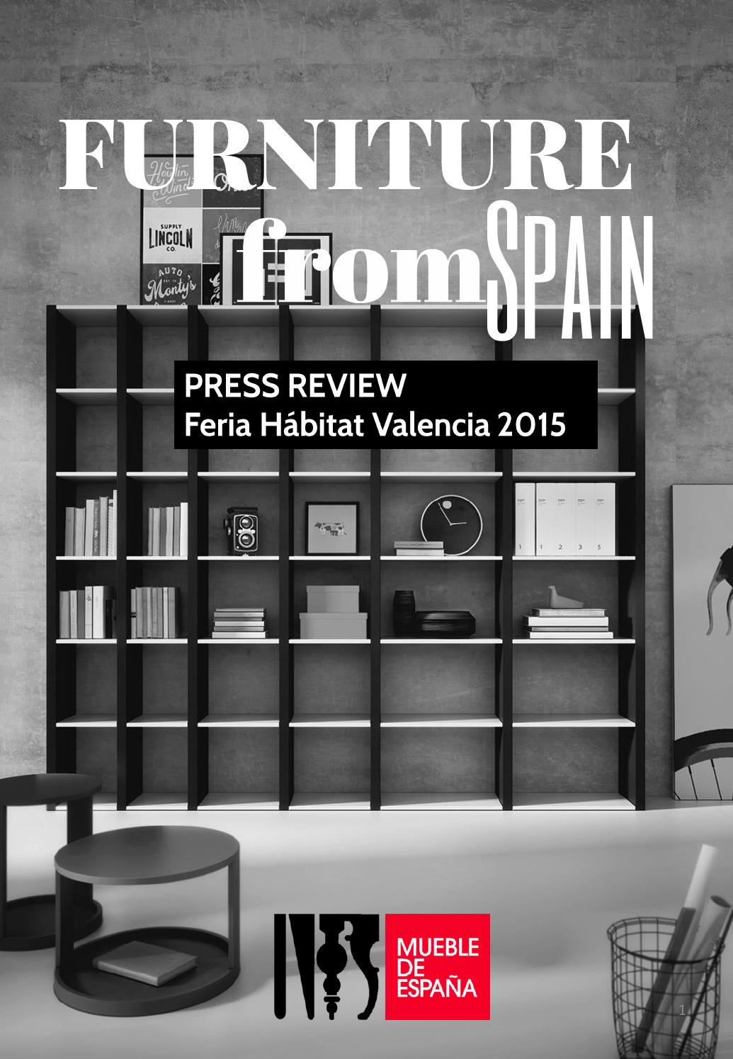 Press release feria habitat valencia 2015 by furniture from spain issuu - Habitat muebles espana ...